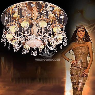 Đèn chùm pha lê trang trí phong cách Châu Âu KMD149