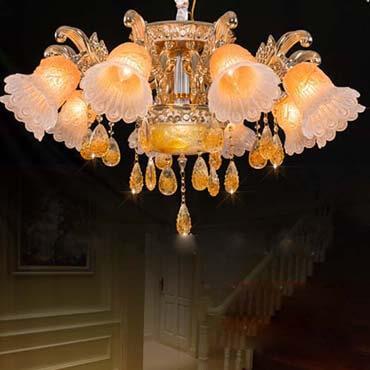 Đèn chùm trang trí phòng khách hình hoa chuông LDH139
