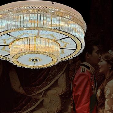 Đèn ốp trần thủy tinh hình tròn KMD125