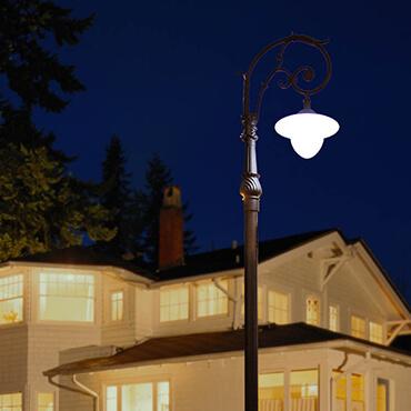 Đèn trụ sân vườn trang trí bóng tròn ROL467