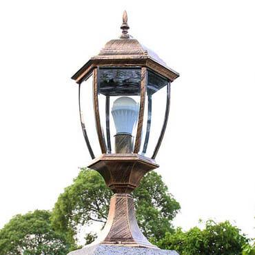 Đèn trụ cổng lục giác chống thấm nước ROL130