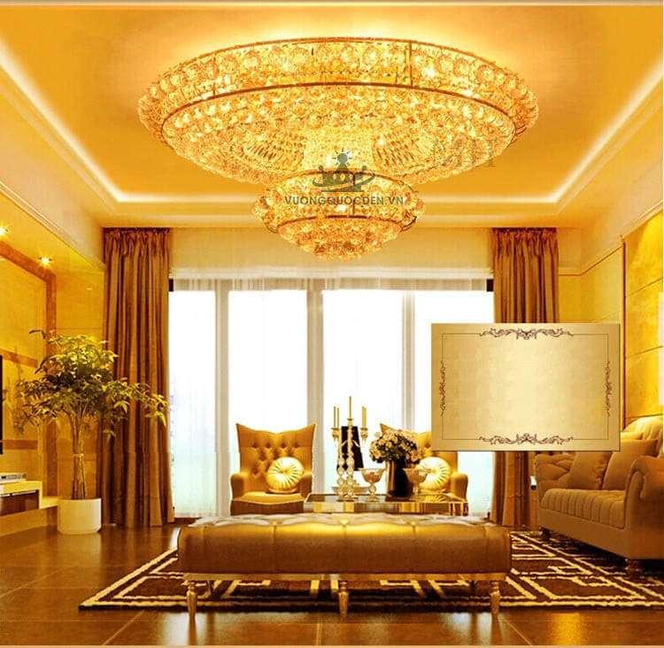 Tư vấn cách chọn đèn trang trí phòng khách cho gia chủ mệnh Kim