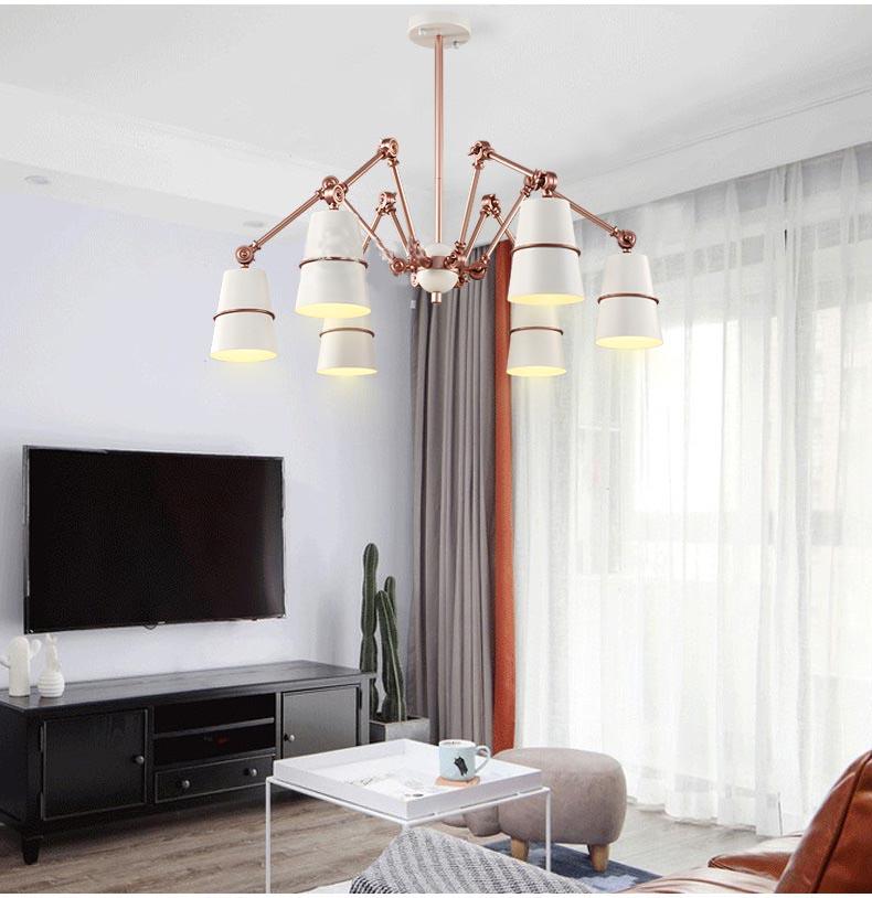Những mẫu đèn thả trần thích hợp với không gian phòng khách hẹp