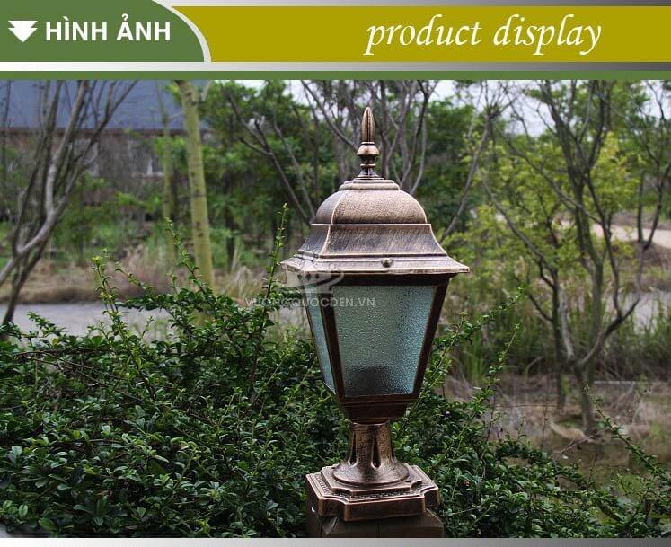 Bộ sưu tập những mẫu đèn trụ cổng giá rẻ dưới 500.000đ