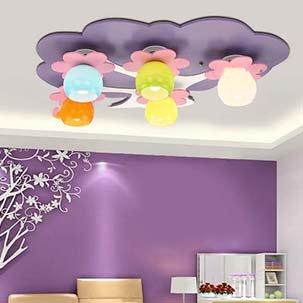 Đèn ốp trần cây trí tuệ cho phòng ngủ bé gái UHS106