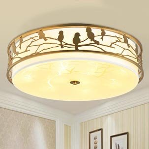 Đèn LED ốp trần cao cấp họa tiết chim vàng anh ABR126