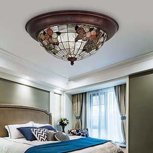 Đèn mâm ốp trần Tiffany YB400
