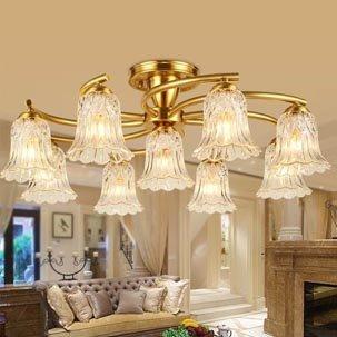 Đèn ốp trần nghệ thuật cao cấp hoa thủy tinh ABR146