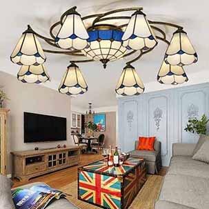 Đèn ốp trần phòng khách sang trọng phong cách Địa Trung Hải YB410