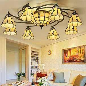 Đèn ốp trần phòng khách sang trọng YB419