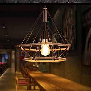 Đèn thả sắt trang trí quán cafe FK157