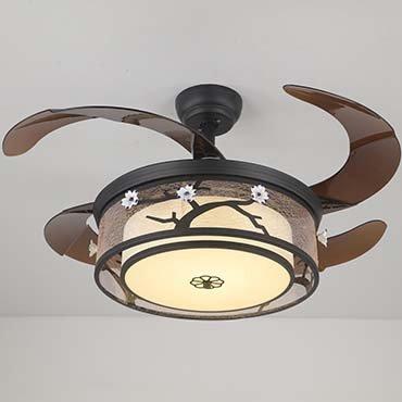 Quạt trần đèn gỗ sồi OAK cao cấp JC8511
