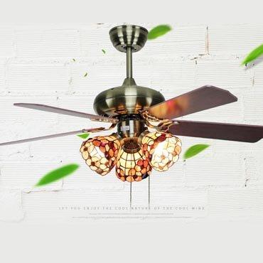 Đèn chùm quạt trần Địa Trung Hải cổ điển YB200