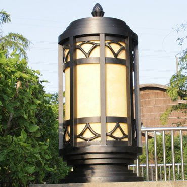 Đèn trụ cổng hình lục giác cao cấp ROL157