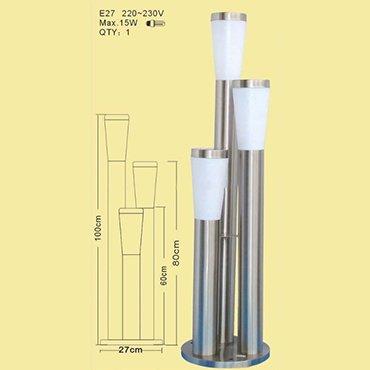 Đèn trụ năng lượng mặt trời ba bóng ROL358
