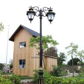 Đèn trụ sân vườn hai bóng cổ điển ROL462