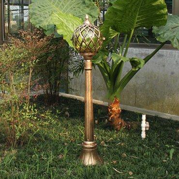 Đèn trụ sân vườn trang trí quả cầu ROL448