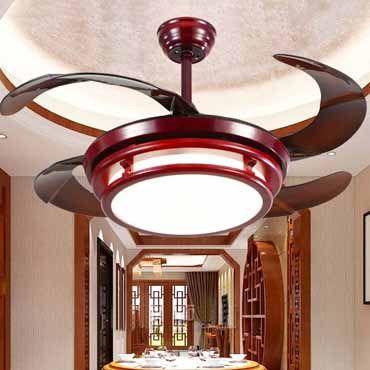 Đèn quạt trần gỗ cao cấp JC8532