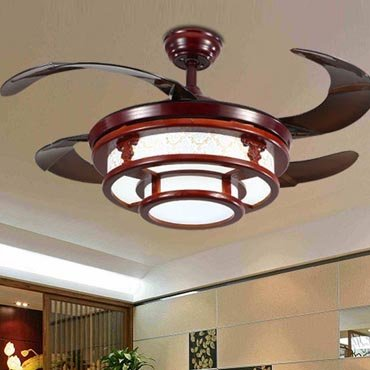 Đèn quạt trần gỗ nghệ thuật JC8530