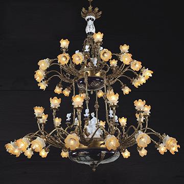 Chiêm ngưỡng những mẫu đèn chùm đồng cao cấp trang trí sảnh khách sạn sang trọng