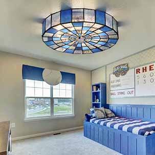 Một số mẫu đèn ốp trần thủy tinh cao cấp sắc xanh ấn tượng