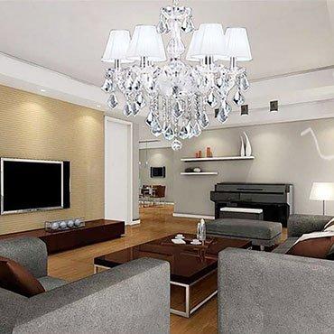 3 thiết kế đèn chùm phòng khách cao cấp phổ biến hiện nay