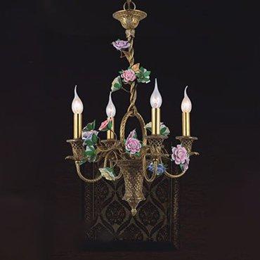Đèn chùm đồng kiểu dáng giỏ hoa hồng WND6028-4