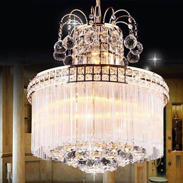 Đèn chùm thủy tinh hiện đại trang trí phòng khách CM161