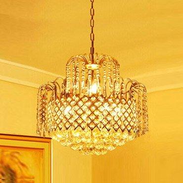 Đèn chùm thủy tinh nhập khẩu trang trí phòng khách CM108