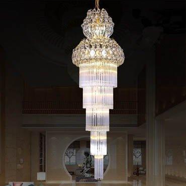 Đèn chùm thủy tinh trang trí nội thất khách sạn CM194
