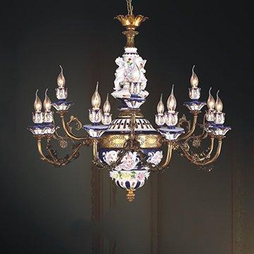 Đèn chùm đồng nến đẹp WND8017-12B