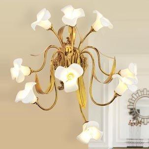 Đèn tường đồng nghệ thuật hoa ly trắng ABR171