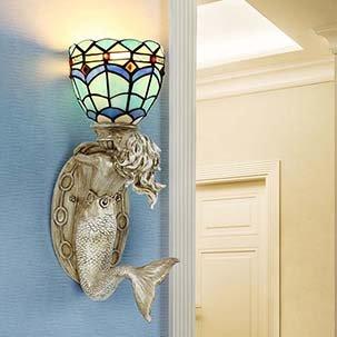 Đèn tường trang trí Tiffany Nàng Tiên Cá YB309