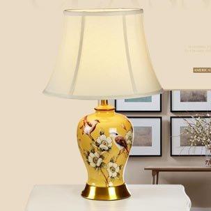 Đèn bàn gốm cao cấp kiểu dáng cổ điển Mỹ ABR123