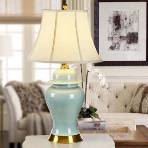 Đèn bàn gốm cao cấp xanh ngọc bích trang nhã ABR148