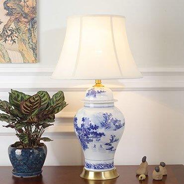 Đèn bàn gốm phong cách Trung Hoa cổ điển YLM TL8005