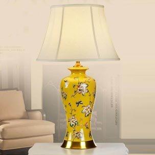 Đèn bàn gốm trang trí hoa văn tinh xảo ABR117