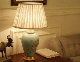 Đèn bàn gốm trang trí màu xanh YLM 8040