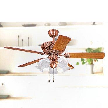 Quạt trần đèn cánh gỗ kiểu Italia FG F039