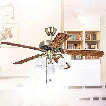 Quạt trần đèn cánh gỗ tân cổ điển FG F014