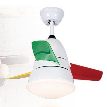 Quạt trần đèn LED cánh đa sắc màu trắng FG L8618
