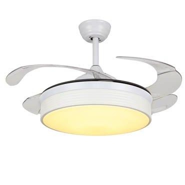 Quạt trần đèn màu trắng tinh khôi thiết kế đơn giản JC8828