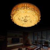Điểm qua một số mẫu đèn áp trần pha lê loại lớn cho phòng khách sang trọng