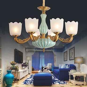 Đèn chùm phòng khách đẹp tinh tế XMQ6605