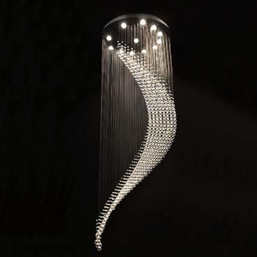 Đèn thả trần thông tầng pha lê đẹp ấn tượng DC6021
