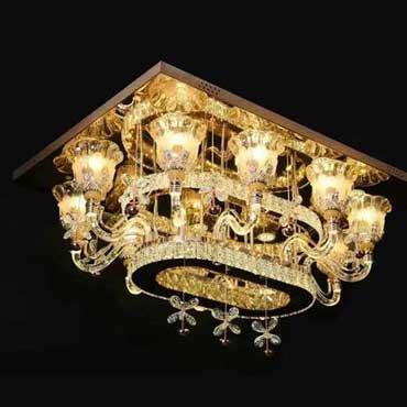 Bộ sưu tập những mẫu đèn ốp trần thủy tinh phòng khách kiểu mới 2018