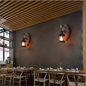 Tìm hiểu xu hướng lắp đặt đèn treo tường đẹp cho quán café hiện nay