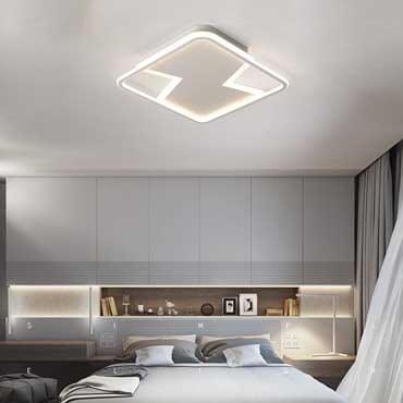 Sự khác biệt của đèn ốp trần vuông và đèn ốp trần tròn độc đáo