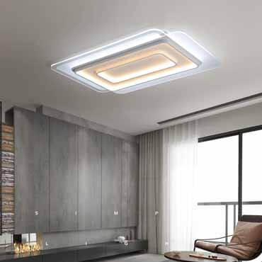 Lắp đèn led trang trí phòng khách hiện đại cho trần bê tông có được không?