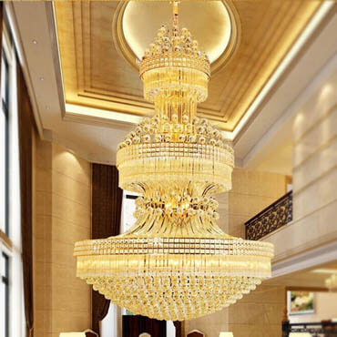 Đèn chùm cao cấp dạng thả cho sảnh khách sạn – sinh ra là dành cho nhau